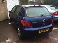 52 Peugeot 307 1.6 blue long mot low insurance £425