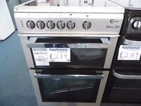 NEW GRADED SILVER 60 WIDE FLAVEL FREESTANDING COOKER REF: 31064