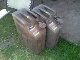 Genuine military jerry cans