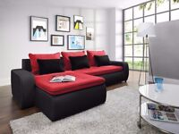 Delivery 1-10 days VEGAS Corner Sofa Bed Function and Storage Brand New Universal Side