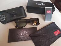 Rayban wafarer black sunglasses