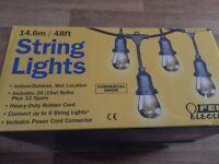 FEIT 48ft 14.6m Commercial Grade Weatherproof String Lights NEW