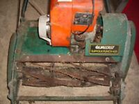 Suffolk petrol lawnmower with grass collector this lawn mower is sold as seen 18 inch cut