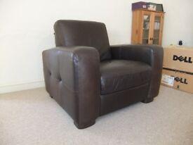 Maskreys' Leather Armchair