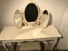 Cream painted shabby chic dressing table
