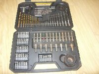 Stanley 100 Piece Drill & Screwdriver Bit Set In Carry / Storage Case