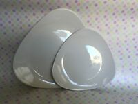 Stylish white Churchill plates