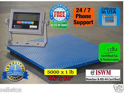 Selleton Floor Scale Pallet Scale Metal Indicator 5000lb 1lb 5x4 60 X 48