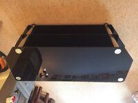 Matrix Black Glass TV Cabinet/Bench