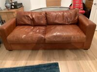 Sofa Bed 3 Seater (Leather)