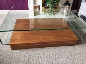 Solid glass tables x3