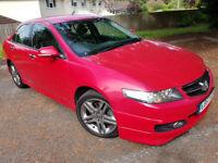 Honda Accord Sport I-CTDI, 2007, Rare Red, 114k, Mot, Prt Leather, Navi, Alloys & HPI Clear £2995