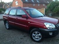 KIA SPORTAGE 2.0 PETROL XE 4 WHEEL DRIVE MANUAL . RECENT SERVICE , TYRES AND REAR DISCS AND PADS
