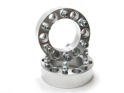 "2 -  1""  6x5.5 Wheel Spacers w/ 14x1.5"" Studs and Lug Nuts"