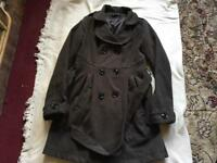 Ladies coat brown size 12 used good condition £4