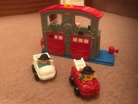 Fisher Price Little People Fire Station and accessories