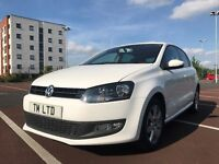 2011 61 VW POLO MATCH 1.4 64K WHITE 12 MONTHS MOT AMAZING CONDITION JUST SERVICED PX LOW MILES CHEAP