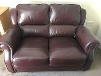 One seat and 2 seat leather sofas
