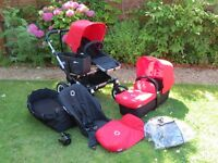 Bugaboo Donkey duo in red V.1