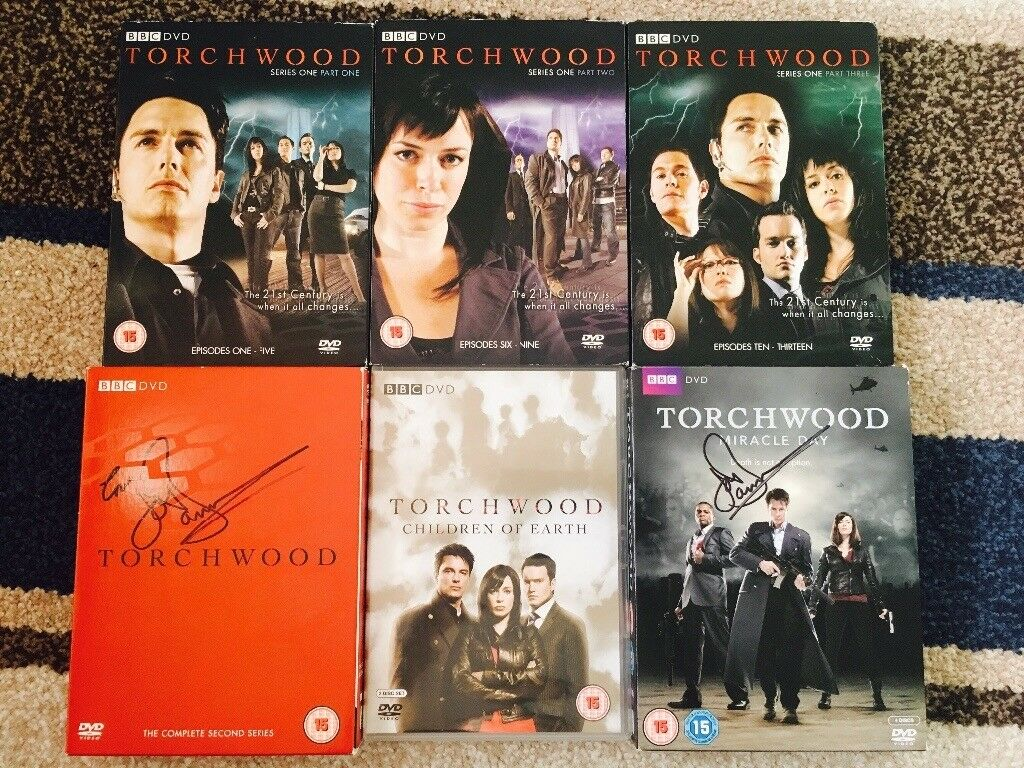 Torchwood Complete Series 1-4 DVDs (Signed by John Barrowman)