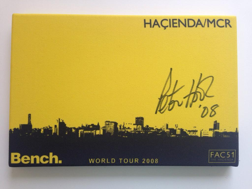 Haçienda Manchester Canvas signed by Peter Hook