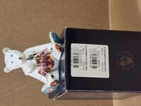 Boxed Royal Crown Derby Mother and Charlotte Bear Paperweight -