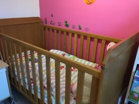 Cotbed Oak - Cot Bed