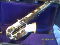THE VERY RARE , GRAFTON ALTO SAXOPHONE in V.G.C. and PLAYING ORDER with CASE M/Piece