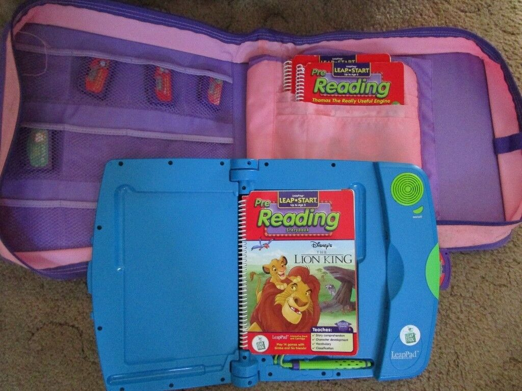 Leapfrog Blue Leappad - Blue Leappad -Leappad Pink Bag, 5 Games and 5 Coordinating Books