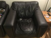 Free - Brown leather armchair