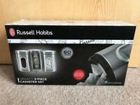 BRAND NEW RUSSELL HOBBS LEGACY 3 PIECE CANISTER SET