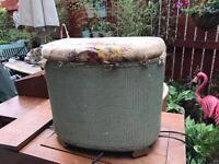 Vintage linen basket