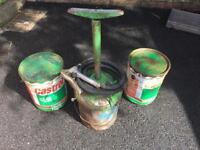 £50. Grease pump bucket castrol 12.5kg vintage