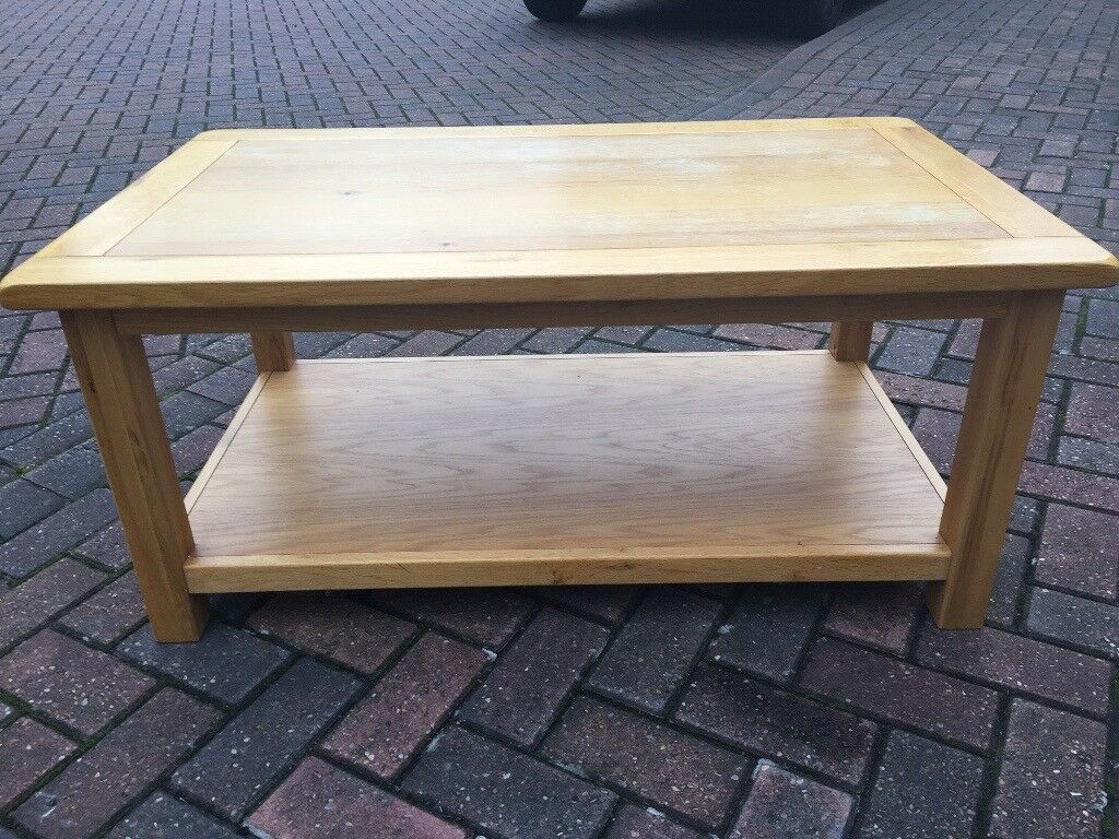 Oak furniture village solid coffee table in coventry