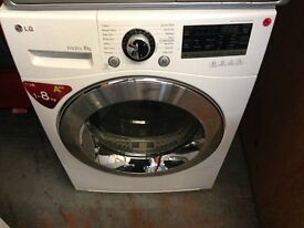 LG 8KG ECO DRY HEAT PUMP CONDENSER DRYER A++ RECONDITIONED