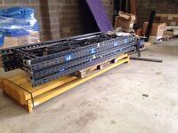 5 bay run of link pallet racking ( storage , industrial shelving )