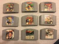 NINTENDO 64 cartridge games - from £3