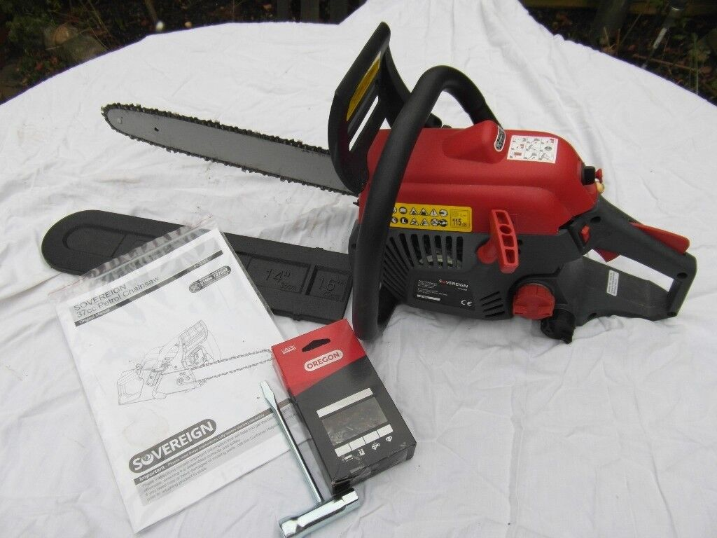 Petrol Chainsaw - Sovereign 37cc. Used once only. £50 or very near offer.