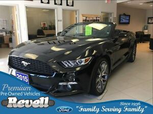 2015 Ford Mustang Ecoboost Premium, Only 24K, Nav, Leather