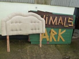 Soft Fabric Double Headboard Delivery available £10