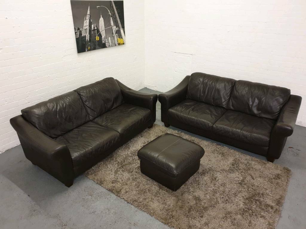 Fantastic Scs Real Italian Leather 3 Piece Sofa Suite In Eccles Manchester Gumtree Interior Design Ideas Clesiryabchikinfo