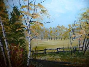 "L. M. Spears ""Country Scene"" Oil Painting Stratford Kitchener Area image 9"