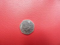 Rare 2012 London Olympics Weightlifting 50p coin