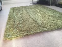 2 lime green rugs
