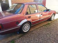 ford orion 1.4 equipe H reg 1990,classic,not escort rs turbo,Mot September 2017 Bargain £900