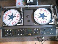 Original Retro Disco with records to go back, back, back.