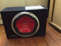 SONY SUB 1200W SONY XPLOD SUBWOOFER WITH CRUNCH BLACKMAXX AMP