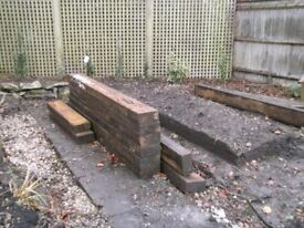 Wooden Sleepers 8ft & 4ft long all in good condition
