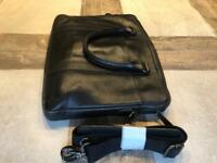 Good quality M&S black leather carry case