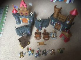 Castle knights and dragons play sets